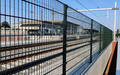 Spoorlijnhekwerk te Goes
